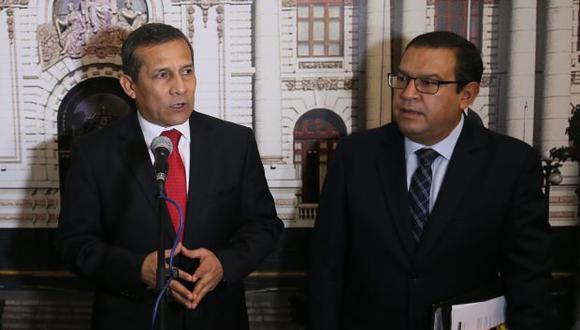 Alberto Otárola visitó esta tarde a Ollanta Humala en el penal de la Diroes. (Foto: Archivo El Comercio)