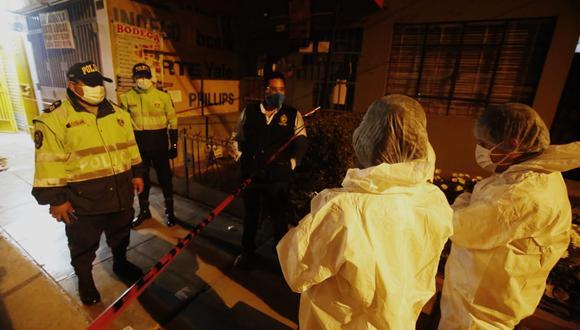 La policía acordó el lugar donde fue asesinado el empresario e inicio las investigaciones. (Foto: Cesar Grados/@photo.gec)