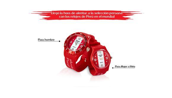 Los nuevos relojes con diseños que aluden a la selección peruana de fútbol podrán ser adquiridos desde este jueves 17 de mayo en todos los quioscos del Perú a solo 30 soles con cupón de El Comercio.