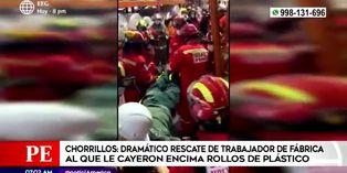 Chorrillos: Trabajador fue aplastado por toneladas de rollos de plástico en fábrica