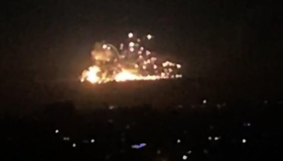 Bombardeos de Israel en Siria dejan 23 muertos, 16 de ellos extranjeros. (AFP).