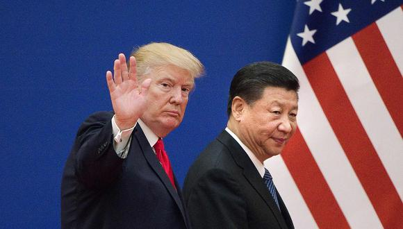 """Trump aseguró este lunes que la primera fase del pacto comercial con China podría firmarse """"antes de lo previsto"""". (Foto: AFP)"""