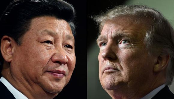 El presidente de China, Xi Jinping, y su homólogo de Estados Unidos, Donald Trump. (Fotos: Dan Kitwood y Nicholas Kamm).