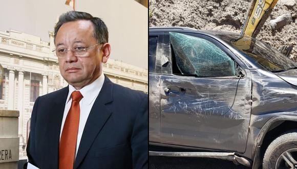 Edgar Alarcón salió ileso del accidente que sufrió en Arequipa. (Foto: Andina / Twitter)