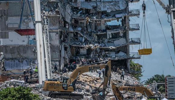 Los 150 millones no incluyen ningún dinero que haya sido recaudado en las numerosas demandas que ya fueron presentadas desde el desplome del 24 de junio, en el que murieron al menos 97 personas. (Foto: Giorgio Viera / AFP)