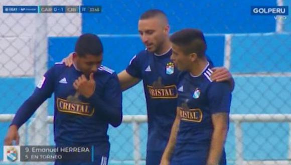 Cristal vs. Garcilaso: Herrera anotó el 1-0 en Cusco tras lujo de Merlo y mala salida de Ferreyra | VIDEO. (Video. Gol Perú / Foto: Captura de pantalla)