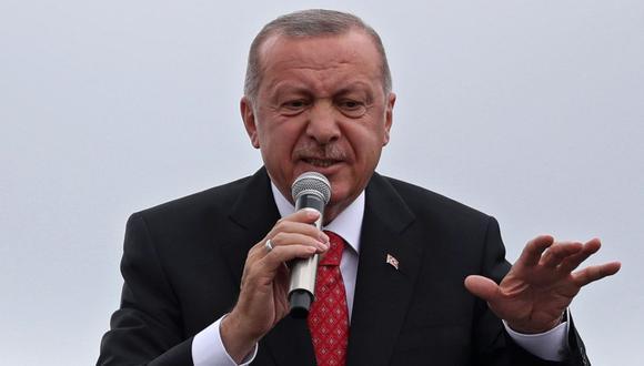 """Recep Tayyip Erdogan afirma que el ex presidente egipcio Mohamed Mursi """"fue asesinado"""". (EFE)."""