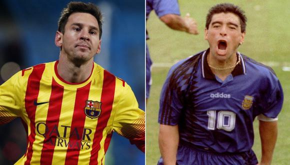 Conoce las 10 similitudes entre Lionel Messi y Diego Maradona