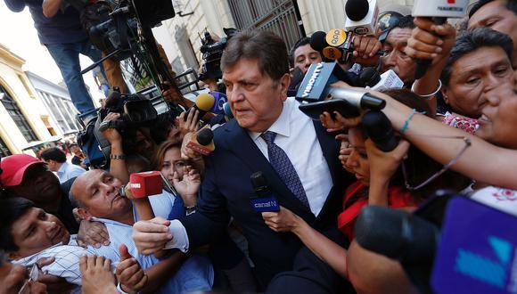 El ex presidente Alan García cumplía desde noviembre pasado una orden de impedimento de salida del país por el Caso Odebrecht. (Foto: AFP)