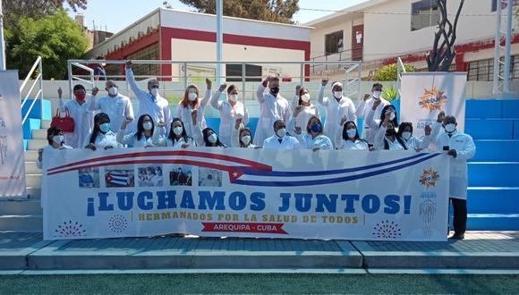 La brigada cubana no dudo en apoyar a Perú por la pandemia | Foto: BMC