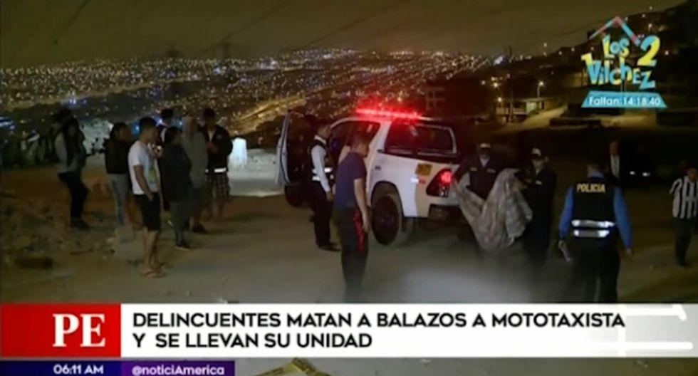 """Joven mototaxista fue asesinado en el paradero """"P"""" del AA.HH. Manuel Scorza. (Captura: América Noticias)"""