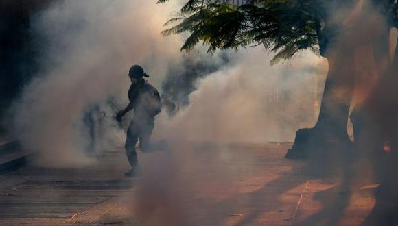 En vivo: estudiantes chocan con la policía en plaza Altamira