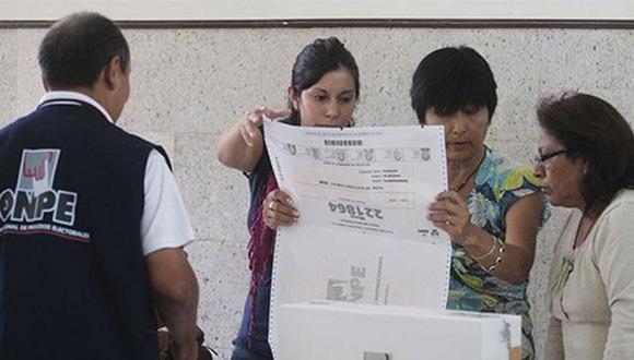 Los tres miembros de mesa son encabezados por el presidente de una mesa electoral. (Foto: ONPE)