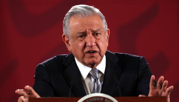 El presidente de México, Andrés Manuel López Obrador (AMLO), se mostró en contra de la propuesta de Donald Trump de designar a los cárteles del narcotráfico como organizaciones terroristas. (EFE/ Mario Guzmán).