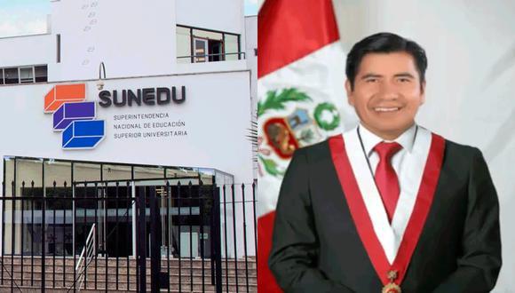 Rubén Ramos Zapana, quien encabeza este equipo de trabajo en la Comisión de Educación del Congreso, pertenece a Unión Por el Perú. (Foto: Sunedu / Congreso)