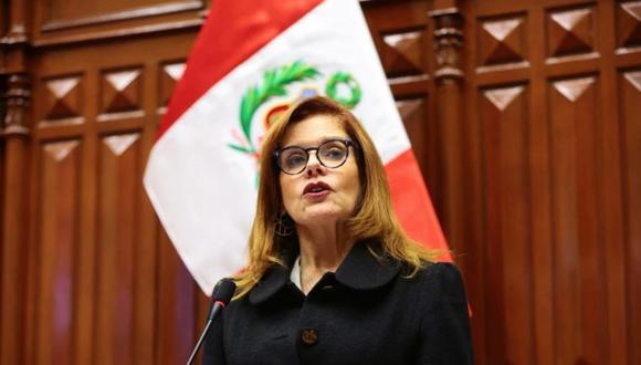 Mercedes Araoz dirigió su carta de renuncia a Pedro Olaechea, quien señaló que cuando se restablezca el pleno esta sería vista. (Foto: GEC)