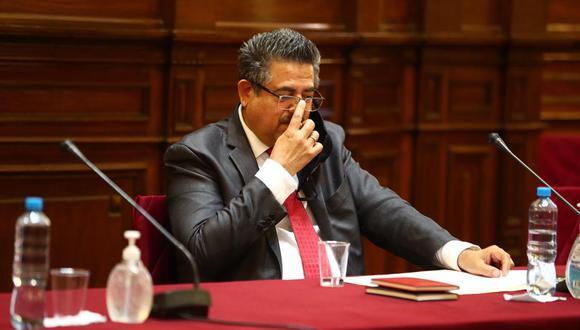 Presidente del Congreso, Manuel Merino, negó que se busque postergar las elecciones con moción de vacancia y pidió al mandatario Martín Vizcarra que responda los cuestionamientos (Foto: HugoCurotto / @photo.gec)