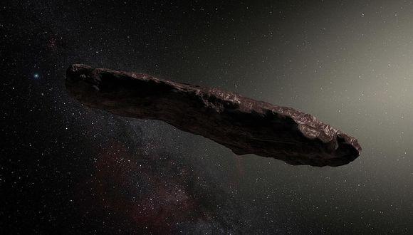 Oumuamua es el primer objeto interestelar que atraviesa el Sistema Solar.   (ESO/M. Kornmesser)