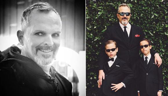 Miguel Bosé y sus hijos. (Fotos: Instagram)