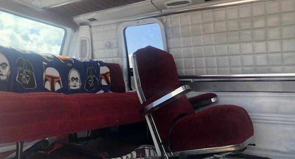La mecánica de la furgoneta inspirada en Star Wars está compuesta por un propulsor V8 en perfecto estado. (Fotos: Craiglist).