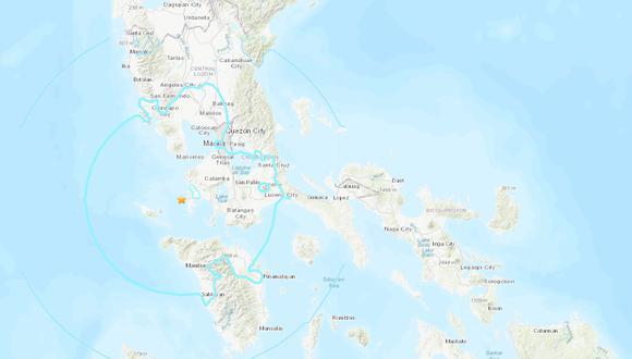 Sismo en Filipinas de magnitud 5,7 sacude la principal isla del país. (USGS).