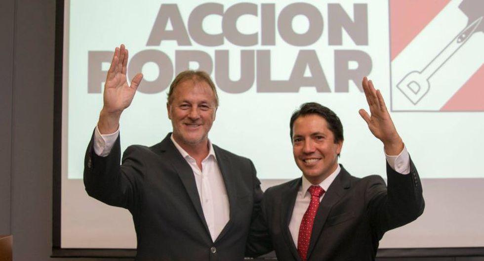 En la ceremonia participó Jorge Muñoz, alcalde de Miraflores y pre candidato a la alcaldía de Lima por Acción Popular. (Difusión)