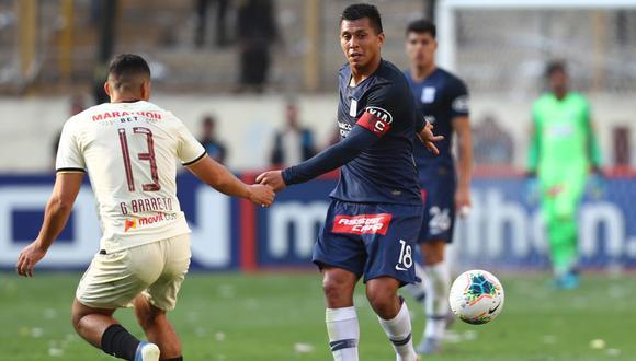 El volante de Alianza Lima habló sobre el presente del club y reconoció que no han tenido una buena campaña en lo que va del año. FOTO: FRANCISCO NEYRA \ GRUPO EL COMERCIO