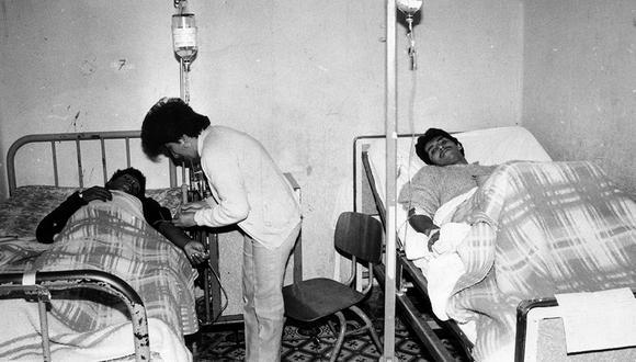 Lima, 23 de junio de 1991, pacientes internados en el Hospital Arzobispo Loayza. (Foto: Gerardo Samanamud/ El Comercio)