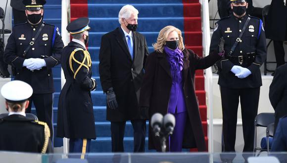 El expresidente Bill Clinton durante le ceremonia de toma de posesión. (Foto: AFP)
