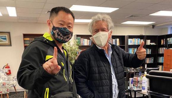 Los excongresistas Kenji Fujimori y Virgilio Acuña sostuvieron un encuentro, según informó este último en sus redes sociales. (Foto: Difusión)