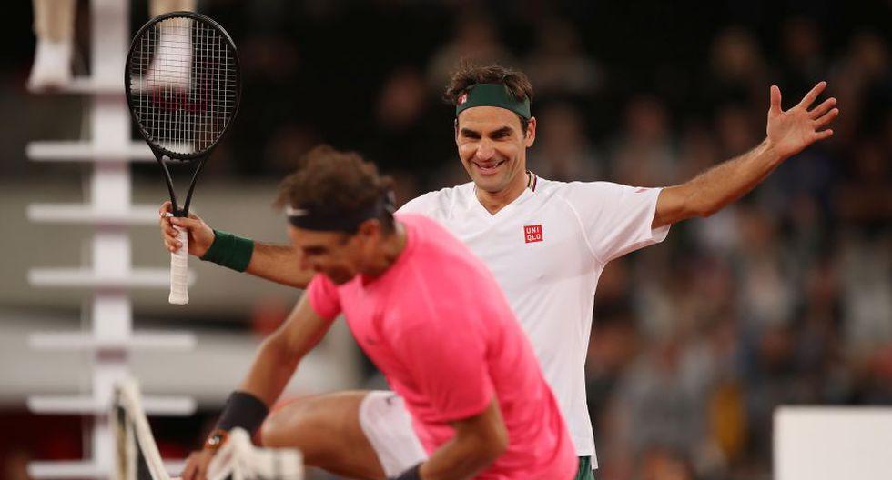 Rafael Nadal y Roger Federer jugaron el partido de tenis con más público de la historia en Sudáfrica