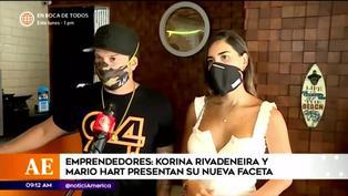 Mario Hart y Korina Rivadeneira presentan su nuevo emprendimiento