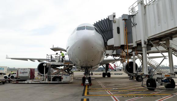 Imagen referencial en donde se ve un avión australiano de Qantas Airways. Bloomberg