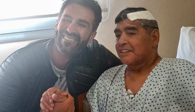 Así luce Diego Maradona después de la operación en la cabeza. (Foto: Instagram)