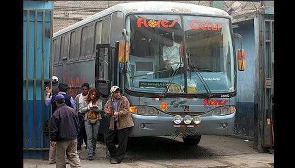 Sutran investigará accidente de bus Flores Hermanos
