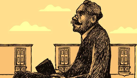 """""""[Ricardo Palma] fue un político pero sobre todo fue un escritor, y aunque algunos pueden dudar de su profundidad, su gracia y su ingenio son enormes"""". (Ilustración: Víctor Aguilar)"""