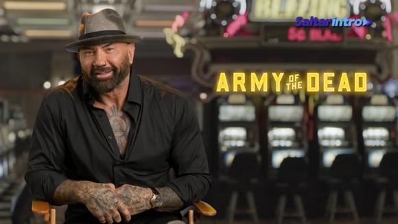 """Dave Bautista talks about """"Army of the Dead"""".  (Source: Skip Intro)"""