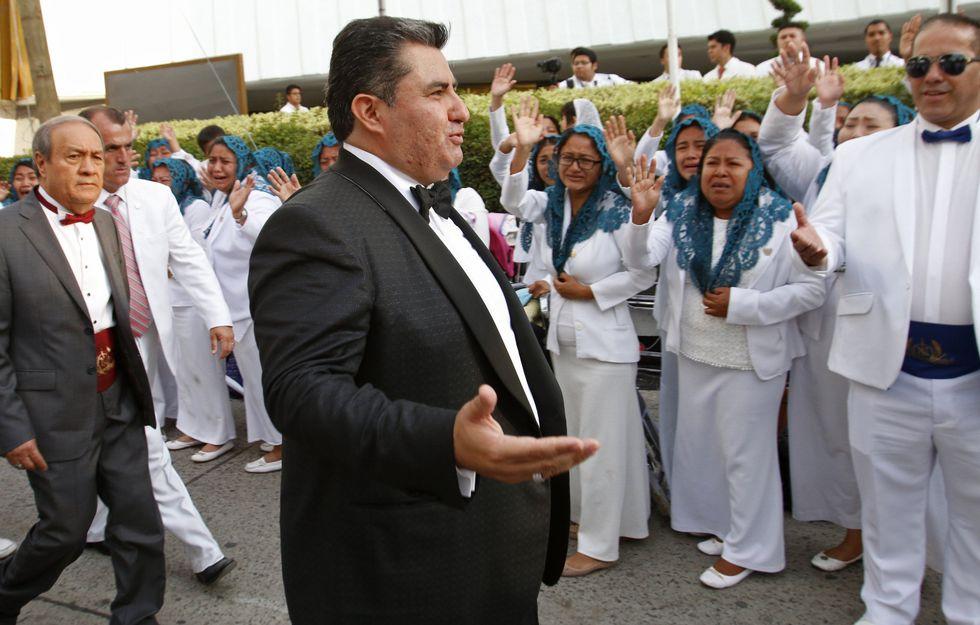 Joaquín García, líder de la iglesia La Luz del Mundo, en Guadalajara, México, el 14 de agosto del 2018. (AP).