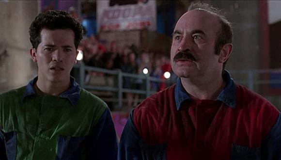 """John Leguizamo y Bob Hoskins como Luigi y Mario en la película de lso """"Super Mario Bros."""" (Foto: Buena Vista Pictures)"""