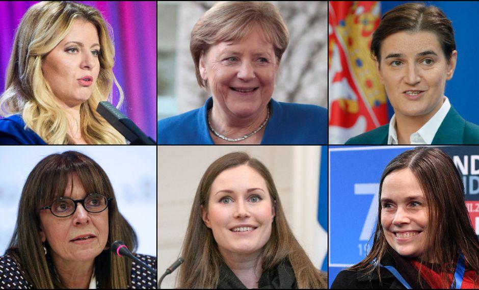 Desde Ángela Merkel hasta  Sakellaropoulou: Quiénes son las mujeres que dirigen sus países en las diferentes regiones del mundo. Fotos: AFP, EFE y Reuters