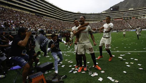 Universitaro de Deportes llevó más de 45 mil espectadores al clásico del 8 de marzo del 2020 por la Liga 1. Fue triunfo crema por 2-0 con goles de Corzo y Dos Santos. (Foto: GEC)