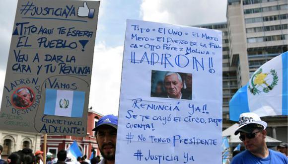 """La """"Primavera Chapina"""" provocó la renuncia de presidente Otto Pérez Molina. Foto: AFP, via BBC Mundo"""