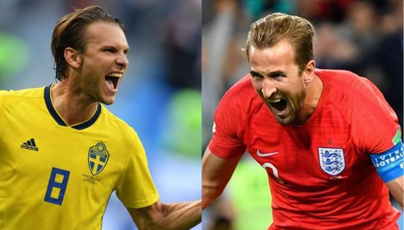 Inglaterra venció a Colombia por penales en octavos de final. Ahora se enfrentará a Suecia. (Foto: AFP)