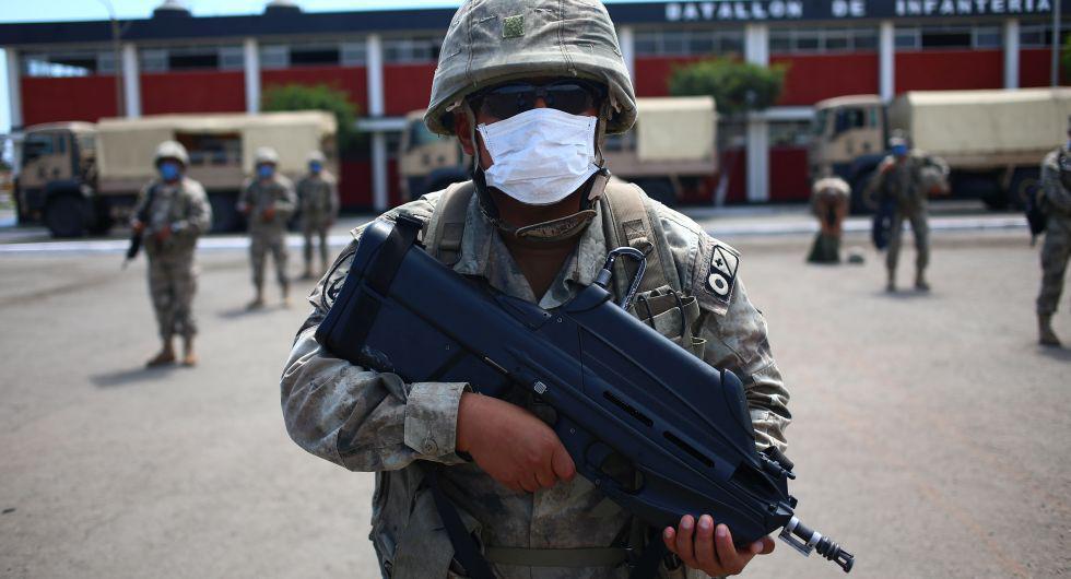 En la Base de Infantería de la Marina de Guerra se ha designado a 1.400 efectivos para dar seguridad a cinco distritos, dos del Callao y tres de Lima.  (Foto: Hugo Curotto/GEC)