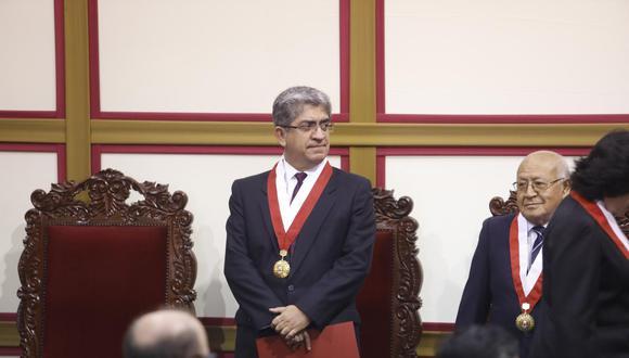 José Luis Sardón declara ante la fiscalía en calidad de testigo.