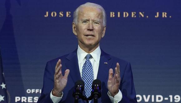 El presidente Joe Biden habla en The Queen Theatre en Wilmington, Delaware (Foto: AP/ Carolyn Kaster).
