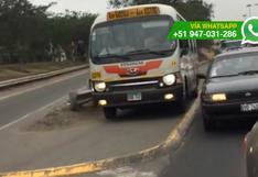 Panamericana Sur: autos y coasters en peligrosas maniobras