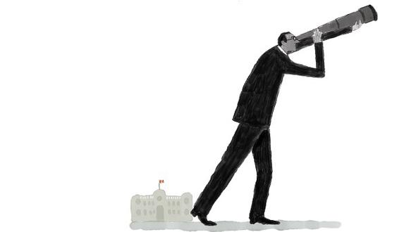 """""""El presidente Vizcarra ha carecido de la pericia para crear coaliciones sociales y políticas, sobre todo teniendo a la opinión pública a su favor"""". (Ilustración: Víctor Aguilar Rúa)."""