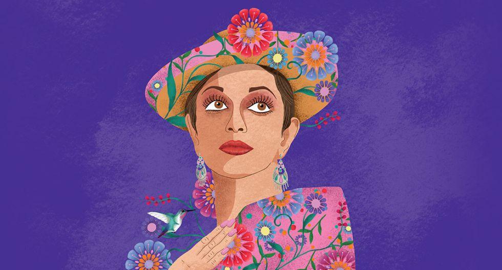 Gráfica de Alicia Maguiña realizada para el concierto en el que se le rendirá homenaje.