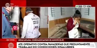 Ate: realizan operativo contra panaderías que operan en condiciones insalubres